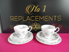 2 x Ridgway Melisande Tea Cups Saucers and Side / Tea Plates 16 cm Trios