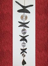Igel Anhänger aus Holz mit Metall Stachelkleid 16 x 12cm