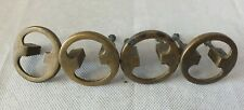 VINTAGE SOLID BRASS  bronze SET OF 4  drawer handles round