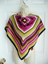 "MISSONI for Target Scarf 100% Silk Strong Colors Geometric Striped 28""x28"""