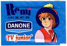 "REMI - 1 BUSTINA FIGURINE PANINI 1977 variante ""DANONE"" TV JUNIOR - INTROVABILE"