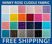 """Rose Cuddle Minky Fabric - Lot of Colors to Choose - 60"""" Wide - Free Shipping!!"""