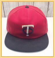 🔴 Vintage MLB Minnesota Twins Baseball Mesh SnapBack Trucker Hat Size Large