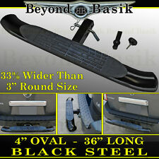 "4"" OVAL Hitch Step Bumper Guard For 2"" Receiver 36"" Black PAINTED Steel Truck"
