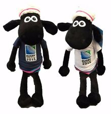 """WALLACE & GROMIT TIMMY TIME SHAUN THE SHEEP RUGBY 2015 16"""" SOFT TOY PLUSH X 2"""