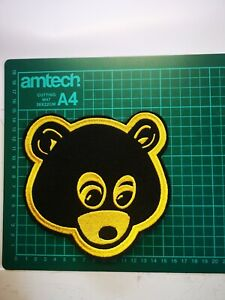 Kanye West dropout bear face Iron On Patch embroidered UK SELLER