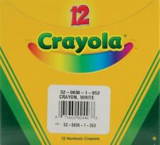 Crayola White Crayons-12/Pkg -52-0836