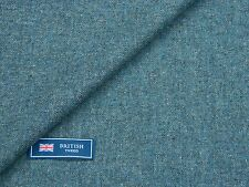 100% WOOL TWEED FABRIC, MIXTURE LIGHT BLUE DONEGAL TWEED - MADE IN ENGLAND