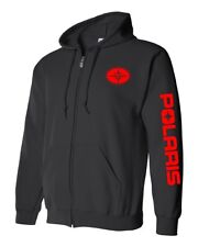 POLARIS style SNOWMOBILE Zip Up Hoodie Sweatshirt UP TO 5X! Choose Design Color!