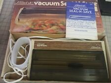 Sears Counter Craft Seal-n-Save Deluxe Sealer w/box and instructions