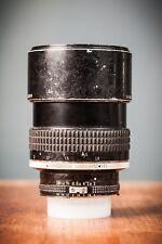 Nikon Nikkor 135 mm F/2.0 Lente Teleobjetivo retrato Prime AIS construido en Parasol