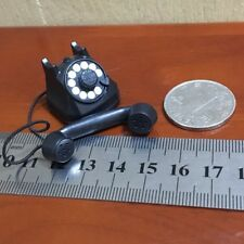 "1:6th Scale World War II Black Telephone Model For 12"" Figure"