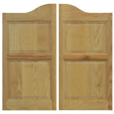 "COMMERCIAL SOLID ASH WOODEN CAFE SALOON SWINGING DOORS ANY 24""- 36"" w/Hardware"