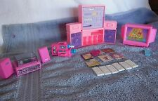 Lot of Barbie Doll Electronics TV Camcorder Stereo Speakers VHS Albums +20 Piece