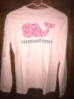 NWT Vineyard Vines Womens Pink Breast Cancer Whale Pocket L/S Shirt Sz XS
