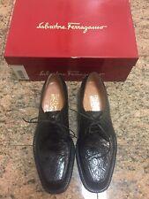 """Limited Edition Salvatore Ferragamo Genuine Crocodile Brown """"Fisher"""" Shoes NIB"""