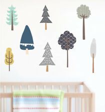 Fabric pattern Tree  Removable Wall Stickers Nursery Decal Kid Baby Room Decor