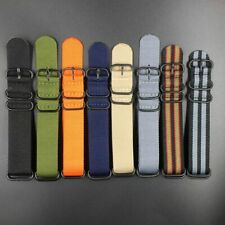 Woven Nylon Replacement Watch Band Wristband Bracelet Strap 20mm-22mm-24mm