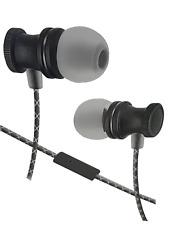 Sentry Metal Earbuds,Inline Mic,Zipper Case,Metal Plug,Durable Cord,Hb885-Black