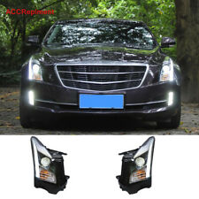 For Cadillac ATS Headlights assembly 2013-2019 Projrctor [Halogen Light Upgrade]
