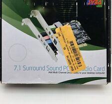 7.1 Surround Sound PCI E AUDIO CARD