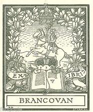 EX-LIBRIS de BIBESCO-BESSARABA, Prince de BRANCOVAN. Roumanie.