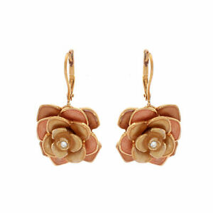 Joan Rivers Cabbage Rose Limited Edition Leverback Earrings