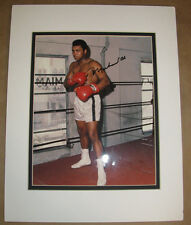 MUHAMMAD ALI Signed Boxing Photo Matted to Fit 11x14 Frame  w/ LOA