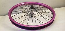 purple Animal dbl wall BMX wheel w/ Salt plus sealed front hub 3/8 axle Fit