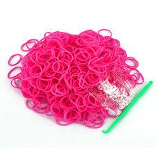 600PCS/SET 24 Clips Tie Dye Rainbow Rubber Bands Loom Refill DIY Bracelet Charms