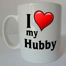 I Love my Hubby Mug Gift Present Birthday Christmas Valentines Day Husband Cup