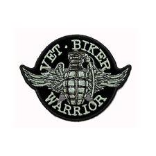 Biker Chopper Moto veterani Wings granata Stella aufbügler ricamate patch