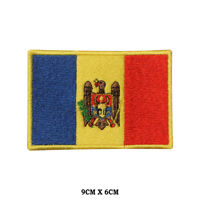 MOLDOVA National Flag Embroidered Patch Iron on Sew On Badge For Clothes etc