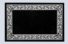 3'x2' Black Marble Dining Table Top Mother Of Pearl Inlay Handmade Decor B772