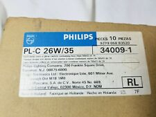 LOT OF 10 PHILIPS PL-C 26W/35 34009-1 NEW OLD STOCK