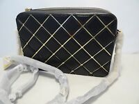 MICHAEL KORS JET SET TRAVEL LARGE EW CROSSBODY BAG WITH GOLD SPECCHIO INLAY