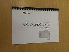 Nikon Coolpix L810 Completa Del Manual guía de instrucciones impreso 136 páginas A5