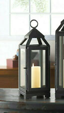 "Mini Small dark gray 4"" x 12"" tall malta Candle holder Lantern outdoor terrace"