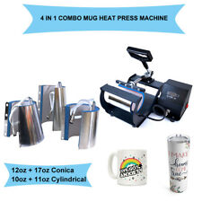 Mug Heat Press Machine Transfer Sublimation 4 in1 DIY Print Coffee Cup Christmas