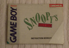 NINTENDO GAME BOY INSTRUCTION BOOK  *** SNOOPY`S MAGIC SHOW *** USED CONDITION