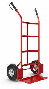 Profi Sackkarre Transportkarre Stapelkarre Transportwagen Stapelkarre 200kg Rot