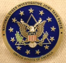 FBI National Cyber Investigative Joint Task Force Challenge Coin CIA NSA    nypd