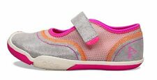 Silver-Pink-Orange MaryJane Casual Play Sneaker/Shoes  NEW Toddlers Girls Size 7