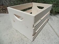 Hand Built Record LP Vinyl Crate Storage Solid Wood - Unfinished Pine