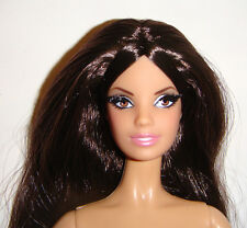 Nude Barbie Look Long Dark Hair Model Muse Barbie Doll For Ooak cs01