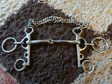 """HORSE BIT 5"""" WITH CURB CHAIN , LIP STRAP USED CONDITION"""
