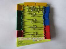 12 x 25mm Assorted Foldback Metal Fold Back 'Bulldog'  Binder Clips 4 colours