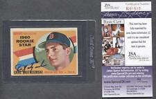 1960 Topps #148 Carl Yastrzemski Signed Card (RC) (Red Sox) (JSA COA)