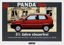 FIAT PANDA FIRE prospetto 1986 6/86 auto prospetto opuscolo prospetto prospectus