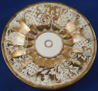 Antique Moabit Berlin Porcelain Gold Design Saucer Porzellan Unterteller German